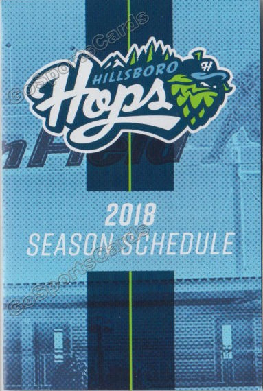 2018 Hillsboro Hops Pocket Schedule