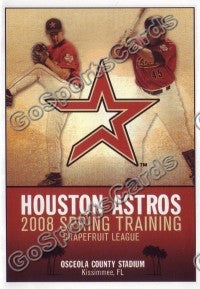 2008 Houston Astros Spring Training Pocket Schedule
