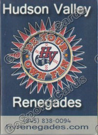 2010 Hudson Valley Renegades Pocket Schedule