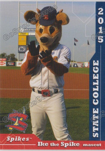 2015 State College Spikes Ike the Spike Mascot