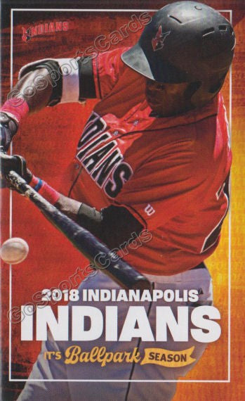 2018 Indianapolis Indians Pocket Schedule