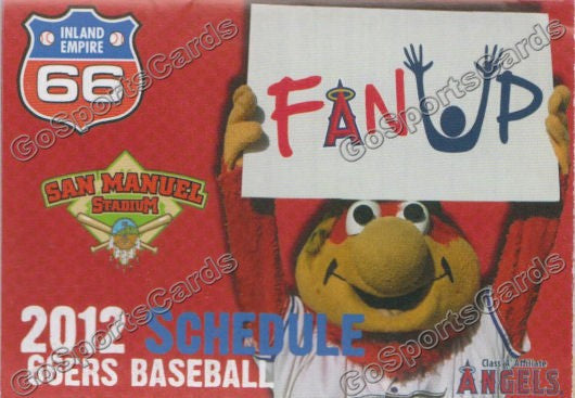 2012 Inland Empire 66ers Pocket Schedule