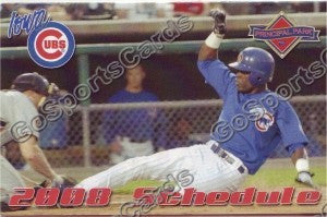 2008 Iowa Cubs Pocket Schedule
