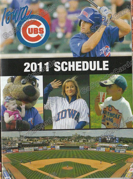 2011 Iowa Cubs Pocket Schedule