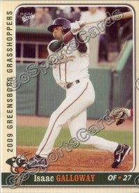 2009 Greensboro Grasshoppers Isaac Galloway