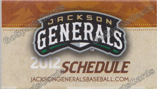2012 Jackson Generals Pocket Schedule