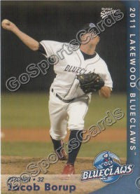 2011 Lakewood BlueClaws Jacob Borup