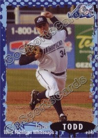 2010 West Michigan WhiteCaps Jade Todd