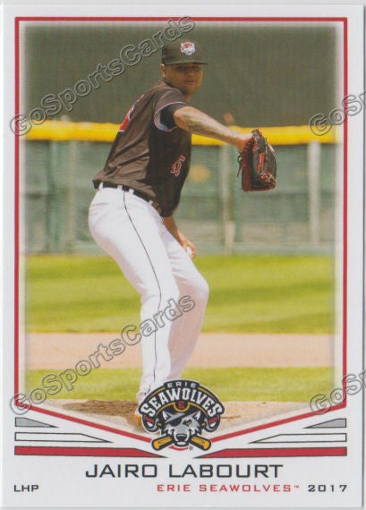 2017 Erie SeaWolves Jairo Labourt