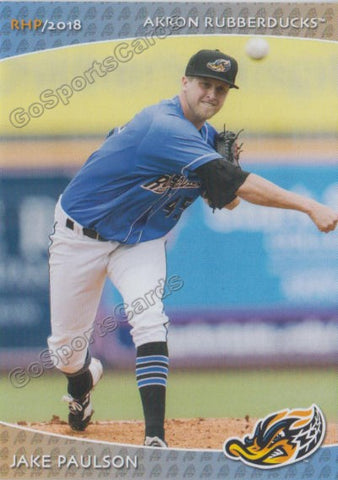 2018 Akron Rubber Ducks Jake Paulson