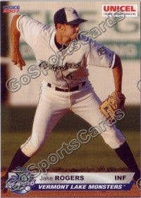 2007 Vermont Lake Monsters Jake Rogers