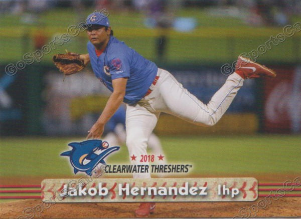 2018 Clearwater Threshers Jakob Hernandez