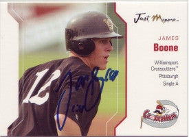 James Boone 2006 Just Minors Just Autographs #4 (Autograph)
