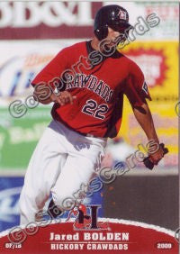 2009 Hickory Crawdads Jared Bolden