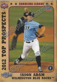 2012 Carolina League Top Prospects Jason Adam