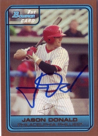 Jason Donald 2006 Bowman Gold #63 (Autograph)