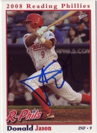 Jason Donald 2008 Reading Phillies (Autograph)