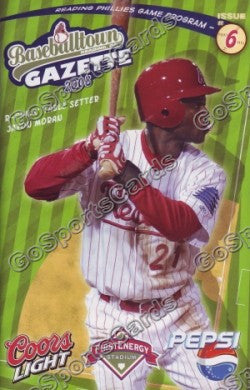 Javon Moran 2008 Reading Phillies Gazette Program (SGA)