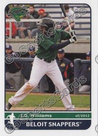 2012 Beloit Snappers JaDamion JD Williams