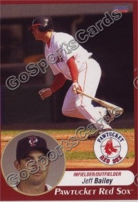 2009 Pawtucket Red Sox Jeff Bailey