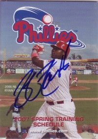 Jeff Farnsworth 2007 Phillies Spring Training Pocket Schedule (Autograph)