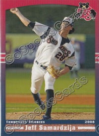 2008 Tennessee Smokies Jeff Samardzija