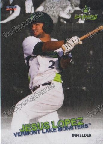 2015 Vermont Lake Monsters Jesus Lopez