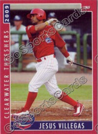 2009 Clearwater Threshers Jesus Villegas