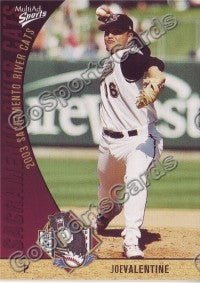2003 Sacramento River Cats Multi-Ad Joe Valentine