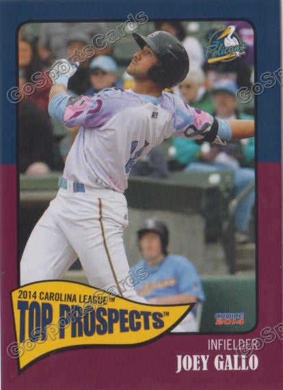 2014 Carolina League Top Prospects Team Set