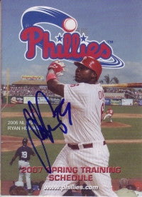 John Ennis 2007 Phillies Spring Training Pocket Schedule (Autograph)