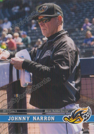 2017 Akron RubberDucks Johnny Narron