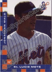 2007 St Lucie Mets Jonathan Malo