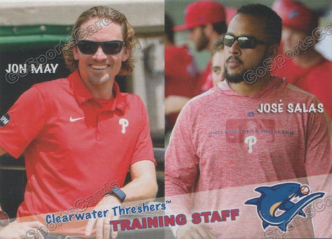 2019 Clearwater Threshers Jon May Jose Salas