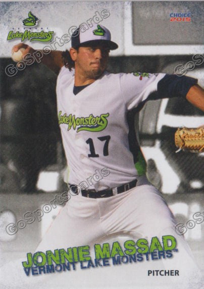 2015 Vermont Lake Monsters Jonathan Jonnie Massad