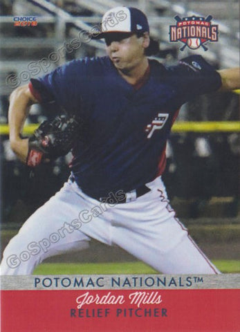 2018 Potomac Nationals Jordan Mills