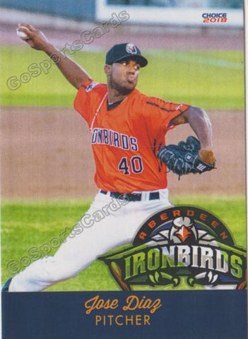 2018 Aberdeen Ironbirds Jose Diaz