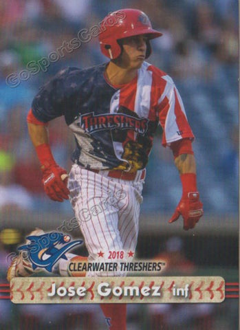 2018 Clearwater Threshers Jose Gomez