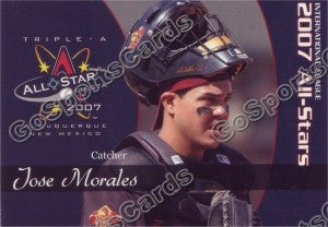 2007 International League All Star Choice Jose Morales