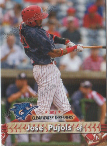2018 Clearwater Threshers Jose Pujols
