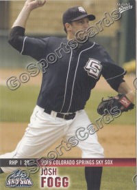 2009 Colorado Springs Sky Sox Josh Fogg