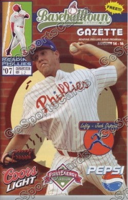Josh Outman 2007 Reading Phillies Gazette Program (SGA)