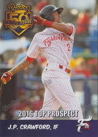 2016 Reading Fightin Phils Top Prospect 25 Team Set