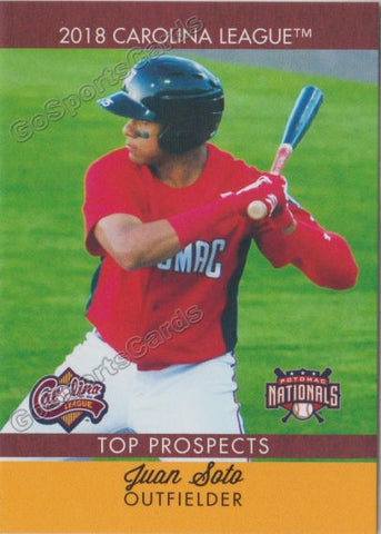 2018 Carolina League Top Prospects Juan Soto