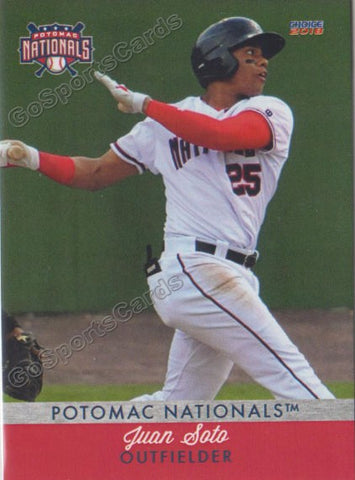 2018 Potomac Nationals Juan Soto