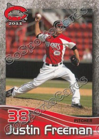 2011 Carolina MudCats Justin Freeman