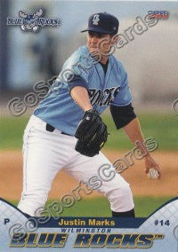2011 Wilmington Blue Rocks Justin Marks