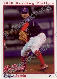 2008 Reading Phillies Justin Pope