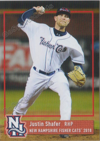 2018 New Hampshire Fisher Cats Justin Shafer