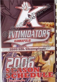 2006 Kannapolis Intimidators Pocket Schedule